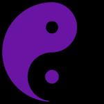 yinyang purple